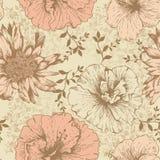 Nahtlose Blumentapete, Handzeichnung. Vektor. Lizenzfreies Stockfoto
