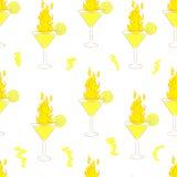 Nahtlose brennende Cocktails Lizenzfreie Stockfotos