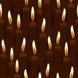 Nahtlose brennende Kerze, Kirchenhintergrund Stockfotos