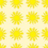 Nahtlose brennende Sonne Stockbilder