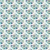 Nahtlose bunte Flussfischschuppen Lizenzfreies Stockbild