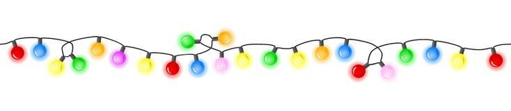 Nahtlose bunte Lichterketten stock abbildung
