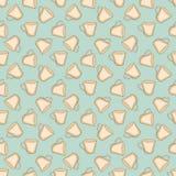 Nahtlose bunte Mustervektorillustration mit Schalen lizenzfreie abbildung