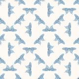 Nahtlose bunte Mustervektorillustration mit Schmetterlingen Stockfotos