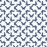 Nahtlose bunte Mustervektorillustration mit Schmetterlingen stock abbildung