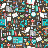 Nahtlose Chemikalie und wissenschaftliches Muster Lizenzfreies Stockbild