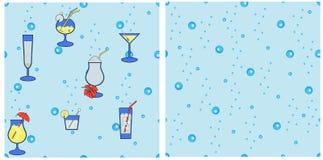 Nahtlose Cocktails Lizenzfreie Stockfotografie