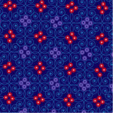 Nahtlose Dekorationsspirale der abstrakten Schönheitssommermusterzusammenfassung der Rahmenmusterblume nahtlosen lizenzfreie abbildung