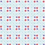 Nahtlose Dekorationsspirale der abstrakten Schönheitssommermusterzusammenfassung der Rahmenmusterblume nahtlosen stock abbildung