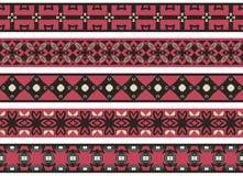 Nahtlose dekorative Grenzen Stockbild