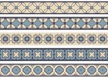 Nahtlose dekorative Grenzen Lizenzfreie Stockbilder