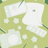 Nahtlose Designdesignereinzelteile Lizenzfreies Stockfoto
