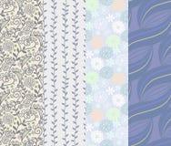 Nahtlose Designe des Musters 4 in einem Satz Stockfoto