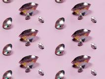 nahtlose Diamanten des Musters 3Demian auf rosa Hintergrund vektor abbildung