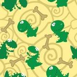 Nahtlose Dinosauriere und Knochen Stockbild