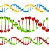 Nahtlose DNA-Stränge stock abbildung