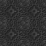 Nahtlose elegante dunkle Papiermuster 236 der kunst 3D Kurven-Querfeld Stockbild