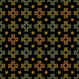 Nahtlose Fall-Farben auf Schwarzem Stockfoto