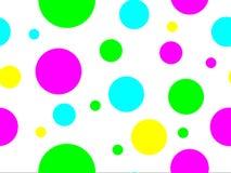 Nahtlose farbige Punkte Stockfotografie