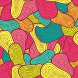 Nahtlose Farbvon hand gezeichnetes Muster Abstrakte Beschaffenheit Lizenzfreies Stockbild