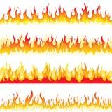 Nahtlose Feuer-Flamme stock abbildung