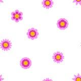 Nahtlose flache Blume, die Muster wiederholt Stockbild