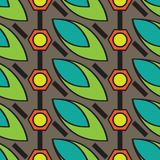 Nahtlose flache Farbhübsches Musterdesign vektor abbildung