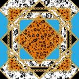 Nahtlose Fliese des Leoparden lizenzfreie stockbilder