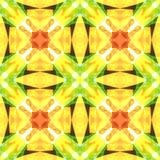 Nahtlose Fliese des roten Quadrats des Gelbgrüns Wärmen Sie getonte abstrakte Polierbeschaffenheit Ausführliche glänzende Hinterg Lizenzfreie Stockfotografie