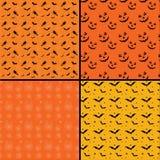 Nahtlose Fliese Halloween-Hintergründe stock abbildung