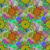 Nahtlose Fliesen-Blumenmuster Stockbild