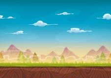 Nahtlose Gebirgslandschaft für Ui-Spiel Lizenzfreie Stockfotos