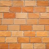Nahtlose gelb-orangee Backsteinmauerbeschaffenheit 3d übertragen lizenzfreie abbildung