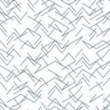 Nahtlose gelegentliche, nervöse, unregelmäßige Linie Schwarzweiss-Muster ENV 10 vektor abbildung