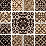 Nahtlose geometrische Muster eingestellt. Stockbilder