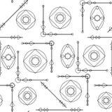 Nahtlose geometrische Musterbeschaffenheit in Schwarzweiss Einfacher Hintergrund vektor abbildung