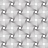 Nahtlose geometrische Retro- Linie Design-Muster lizenzfreie abbildung