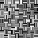 Nahtlose gerade vertikale und horizontale variable Breiten-Schwarzweiss-Streifen Stockfoto