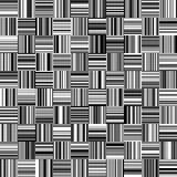 Nahtlose gerade vertikale und horizontale variable Breiten-Schwarzweiss-Streifen Stockfotos