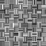 Nahtlose gerade vertikale und horizontale variable Breiten-Schwarzweiss-Streifen Lizenzfreie Stockfotografie