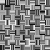 Nahtlose gerade vertikale und horizontale variable Breiten-Schwarzweiss-Streifen Lizenzfreie Stockfotos