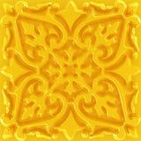 Nahtlose goldene Dekoration Stockbilder