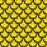 Nahtlose Goldflussfischschuppen Stockfoto