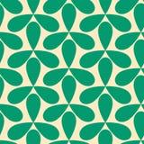 Nahtlose grüne Schneckengeometrisches Muster stock abbildung