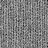 Nahtlose graue strickende Beschaffenheit Stockbilder