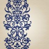Nahtlose Grenze des Vektors im viktorianischen Stil Lizenzfreie Stockbilder
