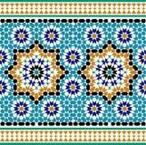 Nahtlose Grenze Marokkos stock abbildung