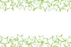 Nahtlose Grenze mit grünem Funkelnstern sequins Goldenes Glanz Funkelnpulver Lizenzfreies Stockbild
