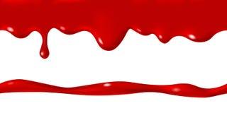 Nahtlose Grenze von weißen Milchcremetropfen stockbild