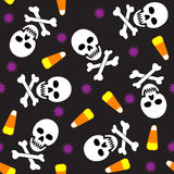 Nahtlose Halloween-Fliese lizenzfreie abbildung